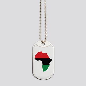 Red, Black and Green Africa Flag Dog Tags