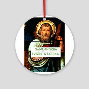 Saint Andrew Ornament (Round)