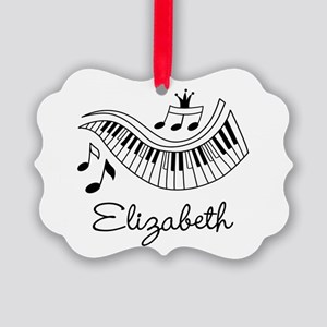 Piano Music Lover Personalized Ornament