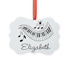 Piano Music Lover Personalized Ornament