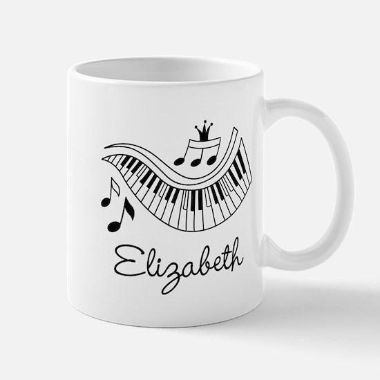 Piano Music Lover Personalized Mugs