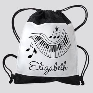 Piano Music Lover Personalized Drawstring Bag