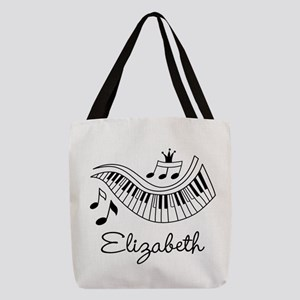 Piano Music Lover Personalized Polyester Tote Bag