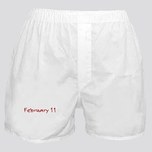 """February 11"" printed on a Boxer Shorts"