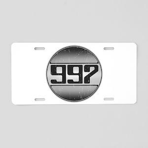 997 Cars Aluminum License Plate