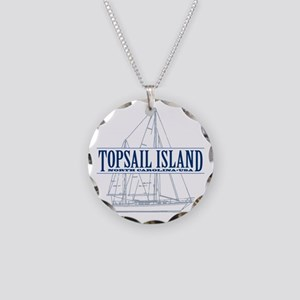 Topsail Island - Necklace Circle Charm