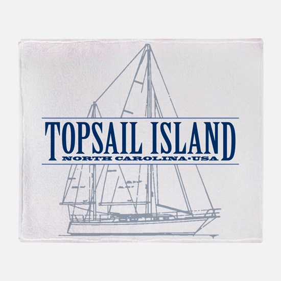 Topsail Island - Throw Blanket