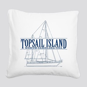 Topsail Island - Square Canvas Pillow