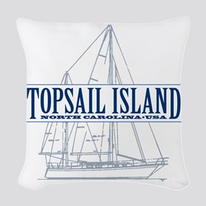 Topsail Island - Woven Throw Pillow