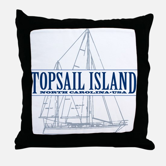 Topsail Island - Throw Pillow