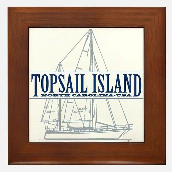 Topsail Island - Framed Tile