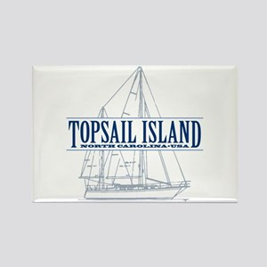 Topsail Island - Rectangle Magnet