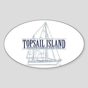 Topsail Island - Sticker (Oval)