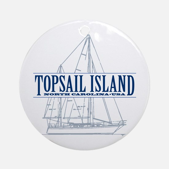 Topsail Island - Ornament (Round)