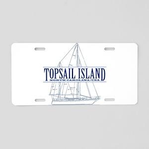 Topsail Island - Aluminum License Plate