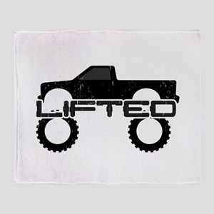 Lifted Pickup Truck Throw Blanket