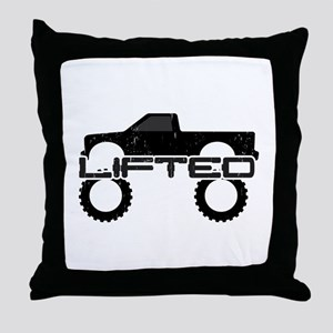 Lifted Pickup Truck Throw Pillow