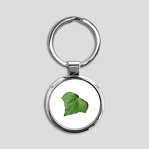 Ivy Leaf Round Keychain