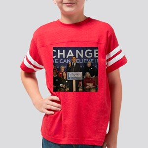 ObamaIowaDec3016X16 Youth Football Shirt