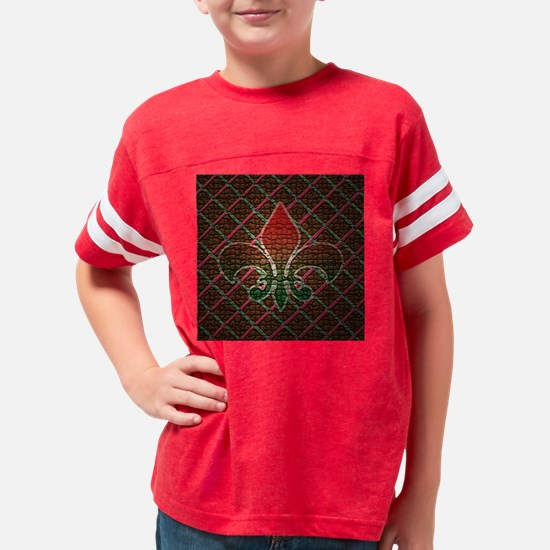 Xmas Fleur Mosaic Youth Football Shirt