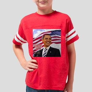 OBAMA PRESIDENT 16X16 Youth Football Shirt