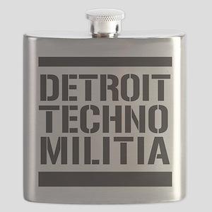 Detroit Techno Militia Flask