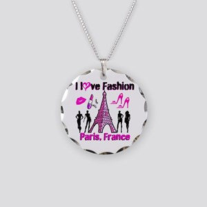 FRENCH FASHION Necklace Circle Charm
