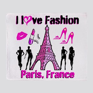 FRENCH FASHION Throw Blanket