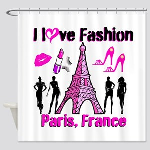 FRENCH FASHION Shower Curtain