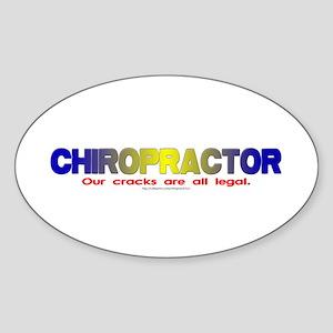 """""""Chiropractor"""" Oval Sticker"""