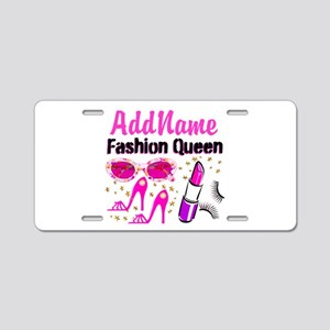 FASHION QUEEN Aluminum License Plate