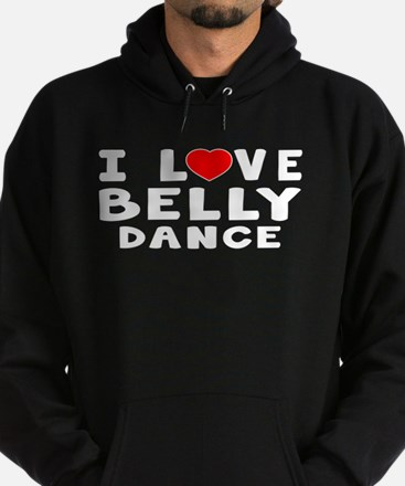 I Love Belly Hoodie (dark)