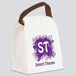 Speech Splash - purple Canvas Lunch Bag