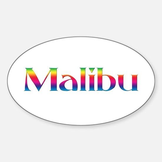 Malibu Oval Decal