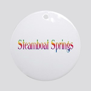 Steamboat Springs Ornament (Round)