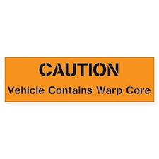 Caution Warp Core Bumper Sticker