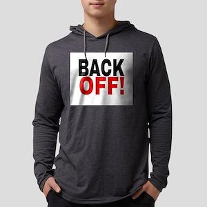 BACK OFF! Mens Hooded Shirt