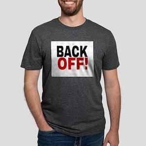 BACK OFF! Mens Tri-blend T-Shirt