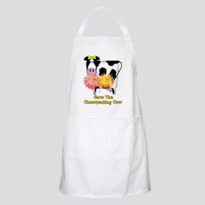 Cheerleading Cow BBQ Apron