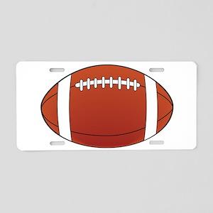 Football illustration Aluminum License Plate