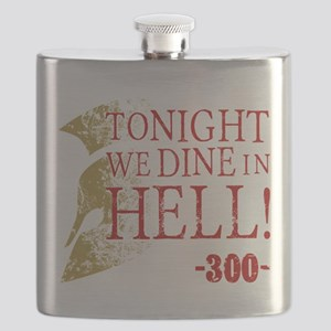 300 Tonight We Dine In Hell Flask