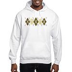 Argyle Pirate, Coffee Colors Hooded Sweatshirt