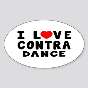 I Love Contra Sticker (Oval)