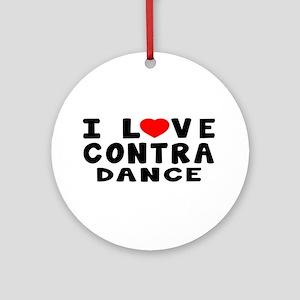 I Love Contra Ornament (Round)