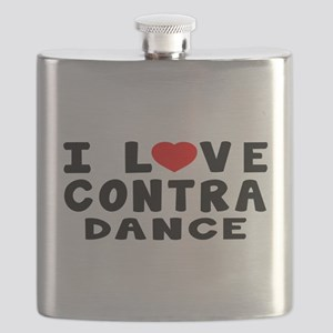 I Love Contra Flask