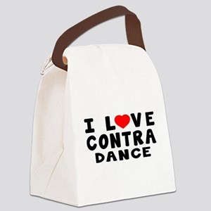 I Love Contra Canvas Lunch Bag