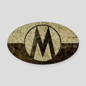 Monroe Republic Flag Revolution Oval Car Magnet