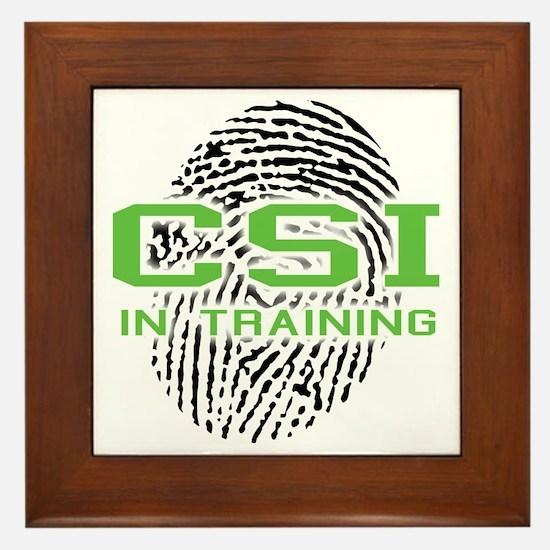 CSI In Training Framed Tile