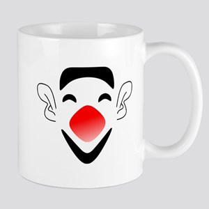 Big Red Nose Clown Face Mugs