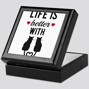 Life is better with cats, text design, word art Ke